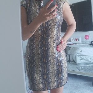 Sequin snake dress